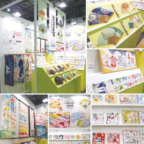 「東京インターナショナル・ギフト・ショー」青海展示棟Aホール「AOMI A HALL LIFE×DESIGN」にてムーミン商品を展示致しました。宮本株式会社